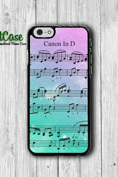 iPhone 6 Case Music Sheet Note Song Canon iPhone 6 Plus, iPhone 5S, iPhone 5 Case, iPhone 5C Case, iPhone 4S Case, iPhone 4 Rainbow Colored#1-57
