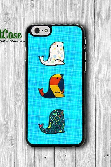 iPhone 6 Case - Fabric Pattern Cute SEALPhone 6 Plus Cases,Blue Jean Floral Geo iPhone 5, 5S, iPhone 4/4S Cover, Personalized Custom Gift#1-62