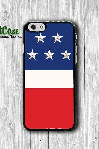 Tri Color America Flag iPhone Case USA iPhone 6S iPhone 6 iPhone 5 Samsung Galaxy S4 Electronics Cases Rubber iPhone Covers Christmas Gift#1-67