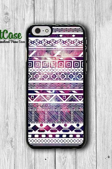 Light Galaxy White Aztec Art iPhone Cases, Purple for HIM iPhone 6 Cover, iPhone 6 Plus, iPhone 5 Hard Case, Rubber Deco Electronics Gifts#1-79