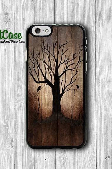 Dark Wood Tree Burned Wooden iPhone 6 Cover, Art Lonely Halloween iPhone 6 Plus, iPhone 5 / 5S iPhone 5C Cases iPhone 4/4S Accessory Gift#1-91