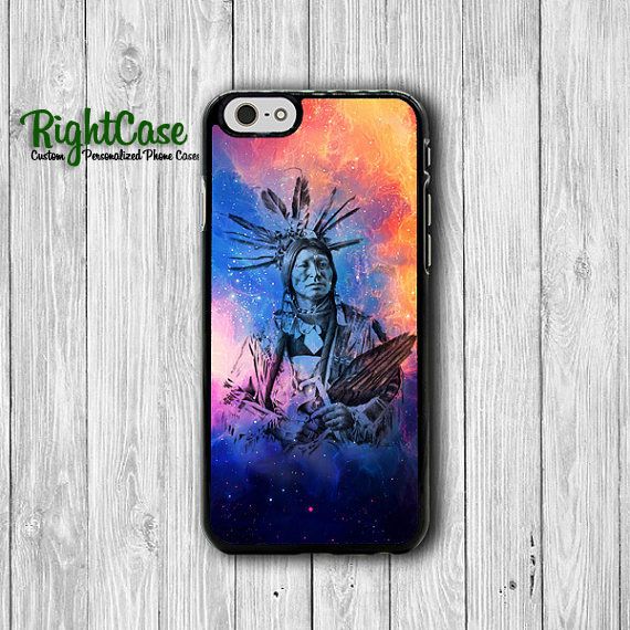 Galaxy Tribal Indian Man iPhone 6 Cases iPhone 6 Plus, iPhone 5S, iPhone 5 Case, iPhone 5C Case, iPhone 4S Case, iPhone 4 Hipster Printed#1-66