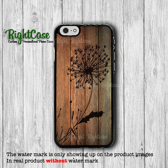 Dandelion Wood Flower iPhone 6 Cases iPhone 6 Plus, iPhone 5S, iPhone 5 Case, iPhone 5C Case, iPhone 4S Case, iPhone 4 Wooden Printed Floral#1-68